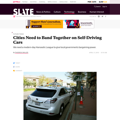 Cities Need to Band Together on Self-Driving Cars