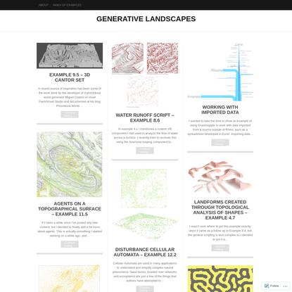 Generative Landscapes