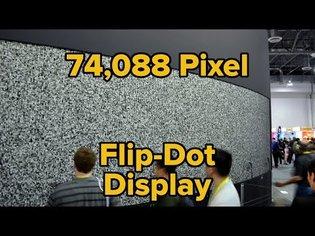 Giant Flip-Dot Display Boasts 74,088 pixels