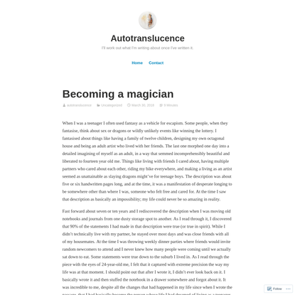 Becoming a magician