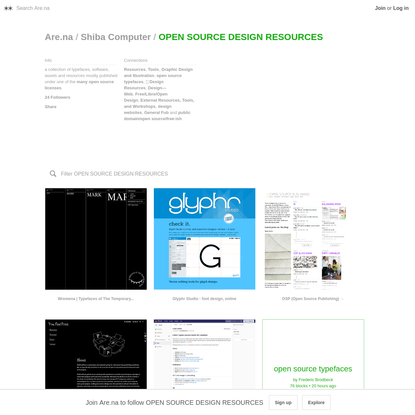 Are.na / OPEN SOURCE DESIGN RESOURCES