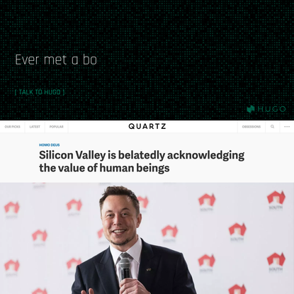 Silicon Valley is belatedly acknowledging the value of human beings