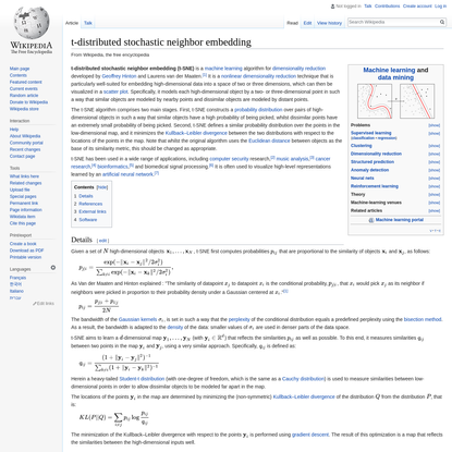 t-distributed stochastic neighbor embedding - Wikipedia