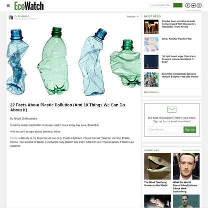 22 Facts About Plastic Pollution (And 10 Things We Can Do About It)