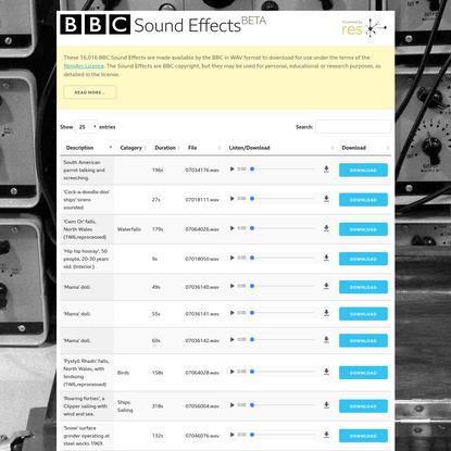 BBC Sound Effects Player