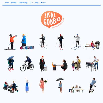 Skalgubbar - Cut out people by Teodor Javanaud Emdén