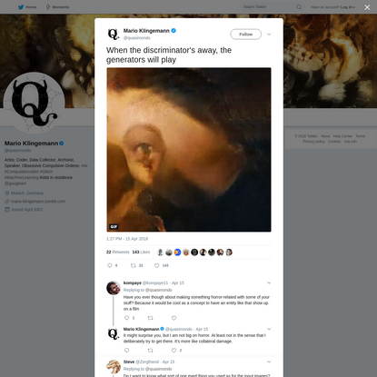 Mario Klingemann on Twitter