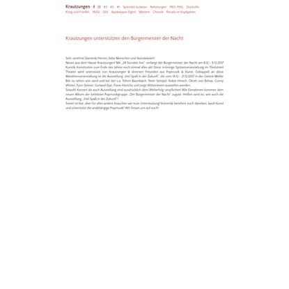 Krautzungen - Das Labor für pragmatischen Utopismus - mail@krautzungen.org