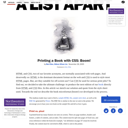 Printing a Book with CSS: Boom!