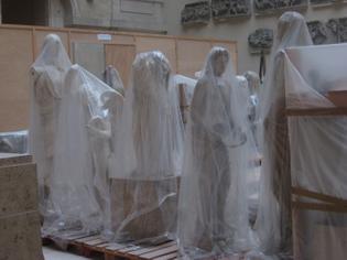 Statues in storage, Louvres Paris