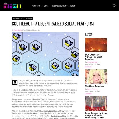In The Mesh - Scuttlebutt, A Decentralized Alternative To Facebook