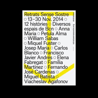 Retrats Sense Sostre → Albertro Magosa⠀ .⠀ .⠀ .⠀ .⠀ .⠀ .⠀ .⠀ .⠀ .⠀ .⠀ ⠀ #typography #graphicdesign #poster #print #pr...