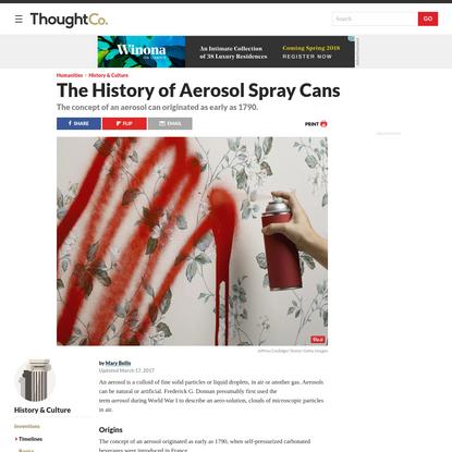 The Evolution of Aerosol Spray Cans