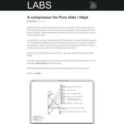A compressor for Pure Data / libpd