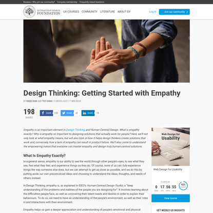 Design Thinking: Getting Started with Empathy