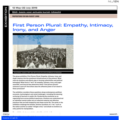 First Person Plural: Empathy, Intimacy, Irony, and Anger