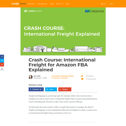 Crash Course: International Freight For Amazon FBA   Jungle Scout