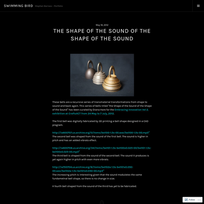 The Shape of the Sound of the Shape of the Sound