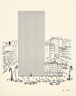graph-paper-architecture-1954-Saul-Steinberg.jpg