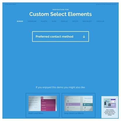 Inspiration for Custom Select Elements   Demo 1