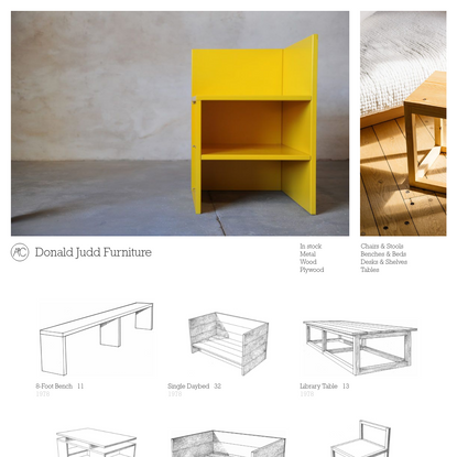 Donald Judd Furniture
