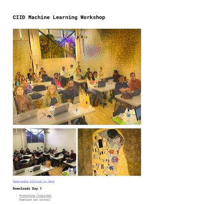 CIID Machine Learning Workshop