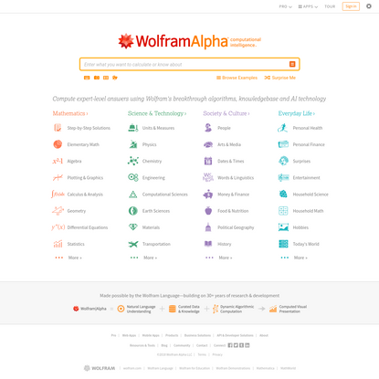 Wolfram|Alpha: Making the world's knowledge computable