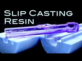 Slip Cast simulated Blow Molded Urethane resin parts