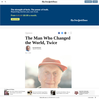Opinion | The Man Who Changed the World, Twice