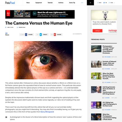 The Camera Versus the Human Eye