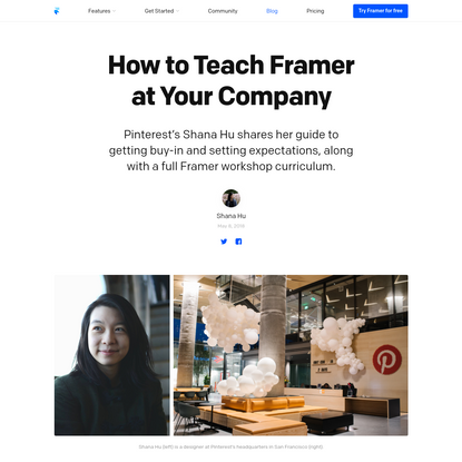 How To Teach Framer At Your Company