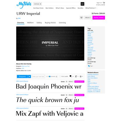 "URW Imperial™ - Webfont & Desktop font "" MyFonts"