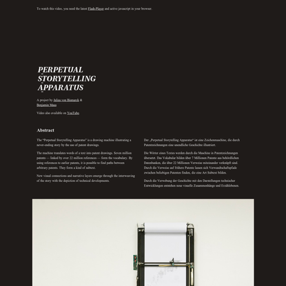 Perpetual Storytelling Apparatus
