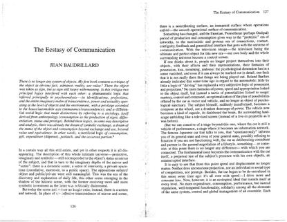 ecstasy of communication