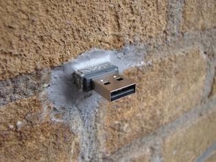 Aram Bartholl — USB Dead Drops