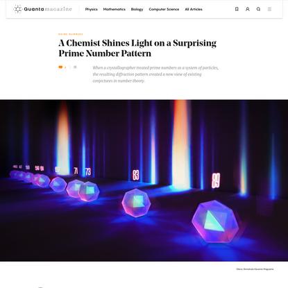 A Chemist Shines Light on a Surprising Prime Number Pattern | Quanta Magazine