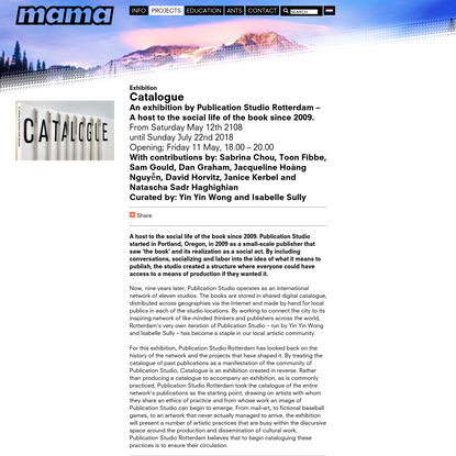 Showroom MAMA: Catalogue