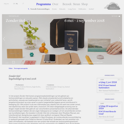 Zonder titel - Tentoonstellingen - Programma - Witte de With