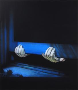 Sayre Gomez, Thief painting in black, 2014