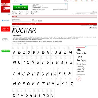 Kuchar Font | dafont.com