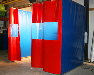 warehouse divider industrial curtain wall