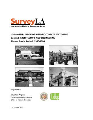 Req. Rdg. - Survey LA: Exotic Revival