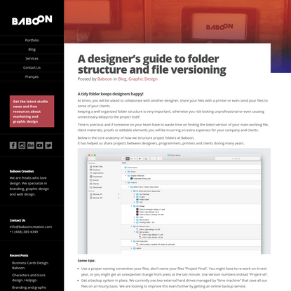 A designer's guide to folder structure and file versions