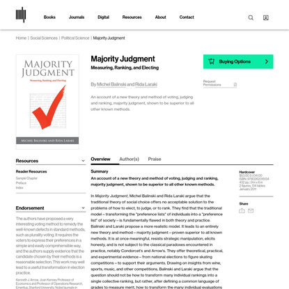 Majority Judgment