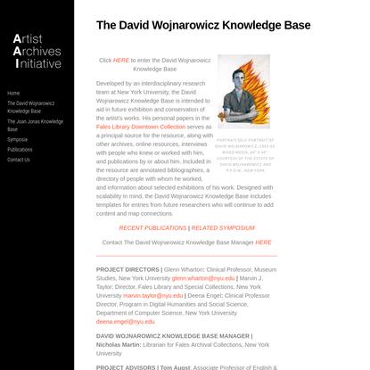 The David Wojnarowicz Knowledge Base