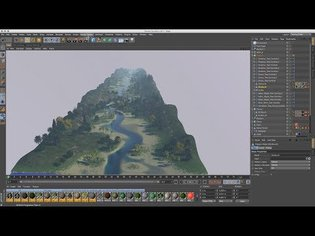 Cinema 4D Tutorial - How to Create a Space Colony 08 Baking & Trees