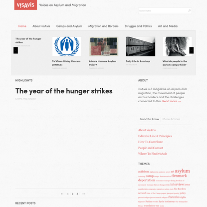 The year of the hunger strikes