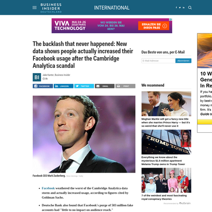 The backlash that never happened: New data shows people actually increased their Facebook usage after the Cambridge Analytic...