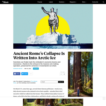 Ancient Rome's Collapse Is Written Into Arctic Ice