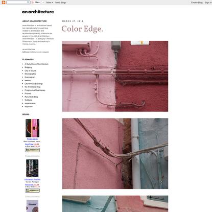 anarchitecture: Color Edge.